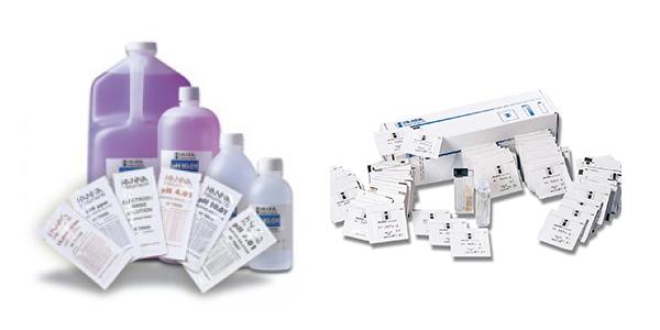 Réactifs pour colorimètres et solutions Tampon PH