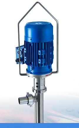 Pompe vide-fûts ou vide-containers JP 700 à vis excentrée pour hautes viscosités